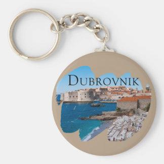 Dubrovnik mit einer Ansicht Standard Runder Schlüsselanhänger