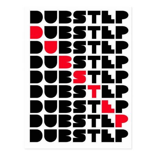 Dubstep WAND-Mädchen-Typen Dubstep Musik Postkarten