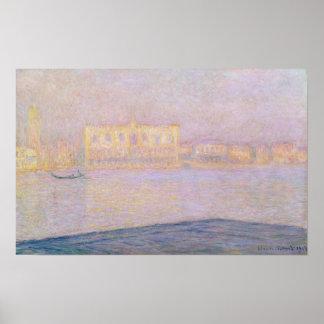 Ducal Palast Claude Monets | von San Giorgio, 1908 Poster