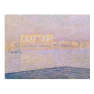 Ducal Palast Claude Monets | von San Giorgio, 1908 Postkarte