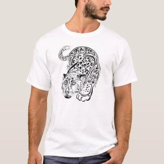 Duckendes Leopard-Tätowierungs-Art-T-Shirt T-Shirt