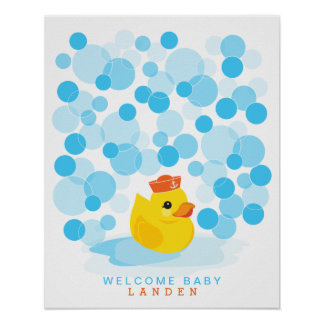 Ducky | Babyparty-Gastbuch Gummidruck Poster