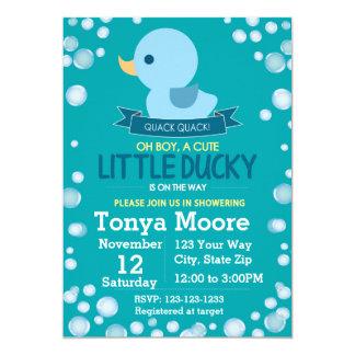 Ducky Babyparty-Gummieinladung (Junge) Karte