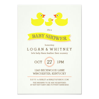 Ducky Babyparty-Gummieinladung Karte