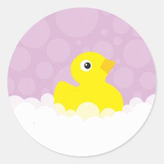 Ducky Gummiaufkleber - Flieder Runder Aufkleber