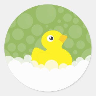 Ducky Gummiaufkleber - Grün Runder Aufkleber