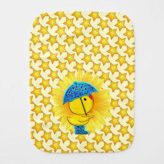 Ducky Sonnenschein-Babyburp-Stoff Spucktuch