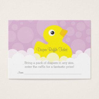 Ducky Windelraffle-Gummikarte - Flieder Visitenkarte