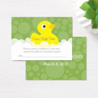 Ducky Windelraffle-Gummikarte - Grün Visitenkarte