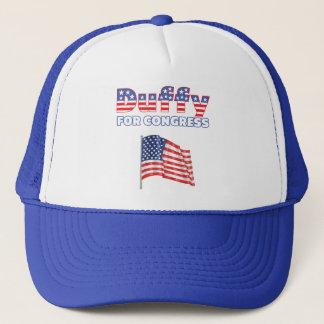 Duffy für Kongress-patriotische amerikanische Truckerkappe