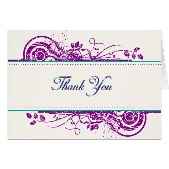 Duft - Kunst danken Ihnen zu kardieren Mitteilungskarte