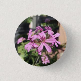 Duftende Pelargonie-Blüte Runder Button 2,5 Cm