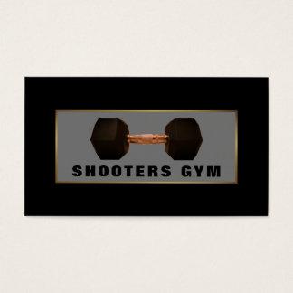 Dumbbell-Gewicht, GoldFitness-Lehrer, Turnhalle Visitenkarte