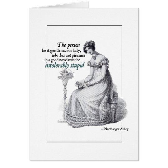 Dumme Gruß-Karten Jane Austens untragbar Karte