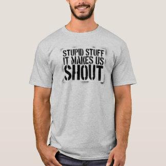 Dummes Overspray des Material-V1a T-Shirt