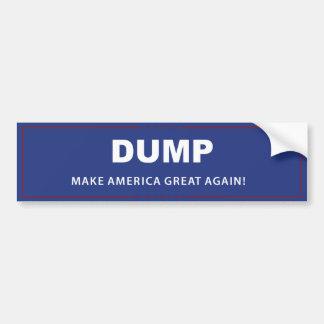 Dump-Trumpf - Autoaufkleber