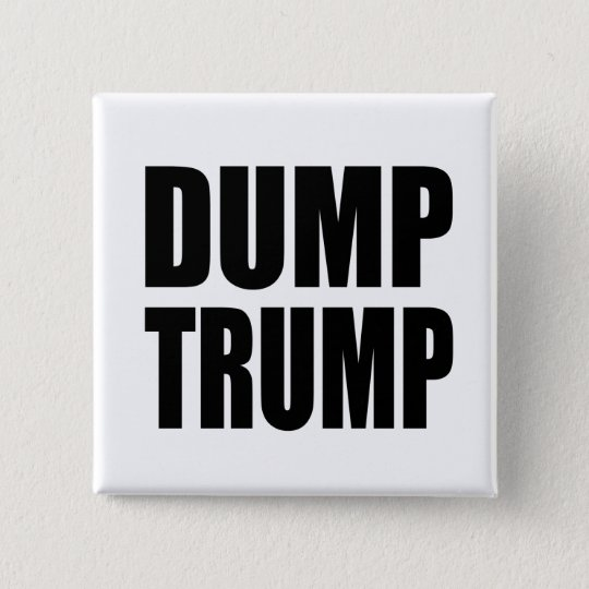 """DUMP-TRUMPF "" QUADRATISCHER BUTTON 5,1 CM"