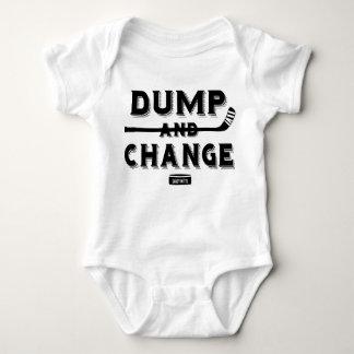 Dump-und Änderungs-Hockey-Baby-Bodysuit Babybody