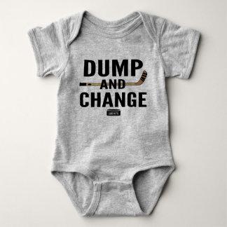 Dump-und Änderungs-Hockey-Baby-Bodysuit-Farbstöcke Baby Strampler