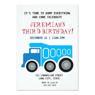 Dumptruck Geburtstags-Einladung 12,7 X 17,8 Cm Einladungskarte