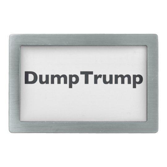 DumpTrump Rechteckige Gürtelschnalle