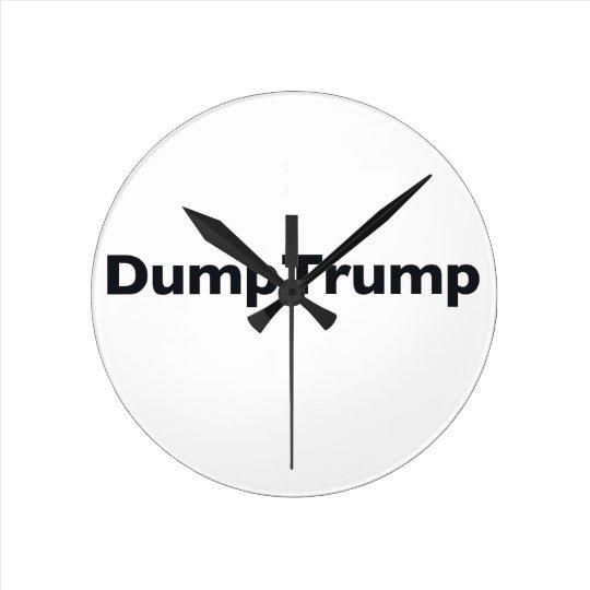 DumpTrump Runde Wanduhr