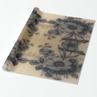 Dünen-blasse Austern-Flora Geschenkpapier