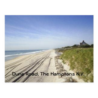 Dünen-Straße, das Hamptons N.Y. Postkarte