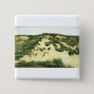 Dünen Vincent van Gogh Quadratischer Button 5,1 Cm