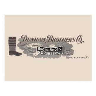 Dunham Bros. Co., Brattleboro, VT-Logo-Postkarte Postkarte