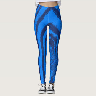 dunkel und hellblau leggings