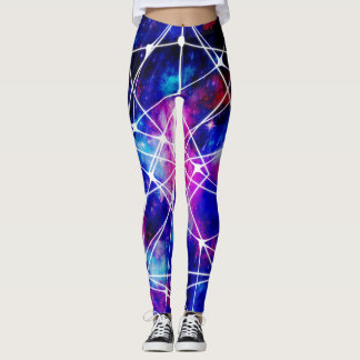 Dunkelblaue Galaxie Leggings