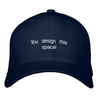 Dunkelblaue gestickte Kappe
