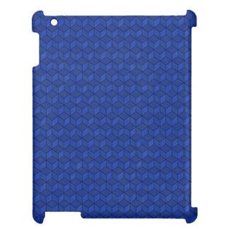 Dunkelblaue Kaskade der Würfel 3D iPad Hülle