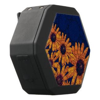Dunkelblaue Leuchtorange-Sonnenblumen Schwarze Bluetooth Lautsprecher