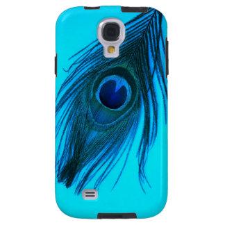 Dunkelblaue Pfau-Feder Galaxy S4 Hülle