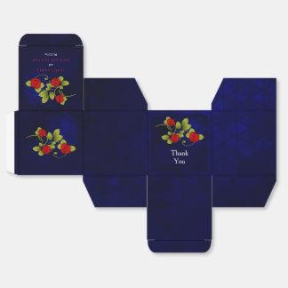 Dunkelblaue und Rosen-Blumen-Hochzeit Geschenkschachtel