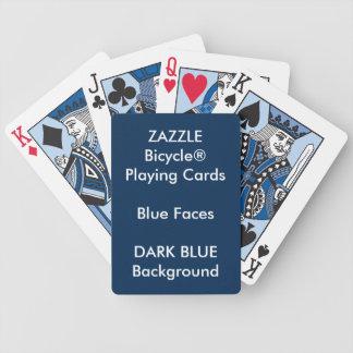 DUNKELBLAUES kundenspezifisches Bicycle® blaues Bicycle Spielkarten