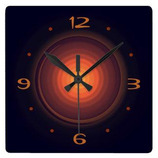 Dunkelbraun mit Goldstrudel Centre>Wall Uhren