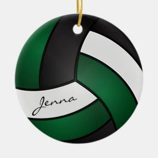Dunkelgrün, Weiß u. Schwarzes personifizieren Sie Rundes Keramik Ornament