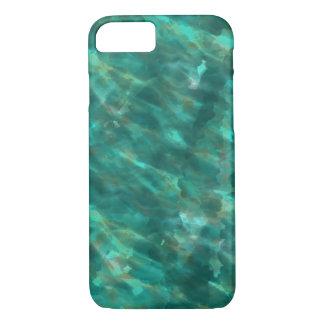 Dunkelgrüner Wasser-Farbkunst iphone Fall iPhone 7 Hülle