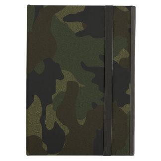 Dunkelgrünes Camouflage-Imitat-Stoff iCase iPad Ai
