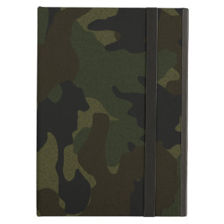 Dunkelgrünes Camouflage-Imitat-Stoff iCase iPad