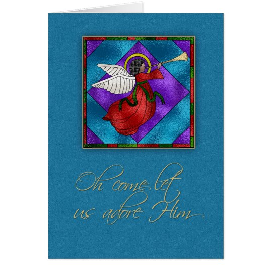 Dunkelhäutiger Engel, religiöses Weihnachten Grußkarte