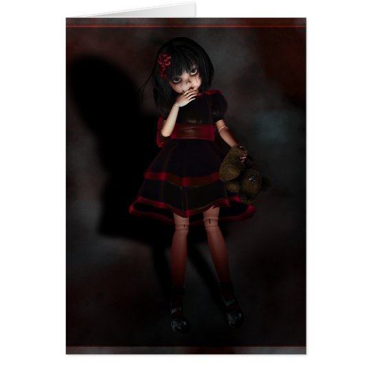 Dunkelheit Mimi Grußkarte