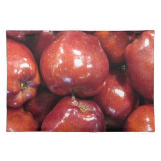 Dunkelrote Äpfel Tischset