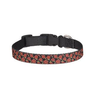 Dunkelrotes BlumenHundehalsband Hundehalsband