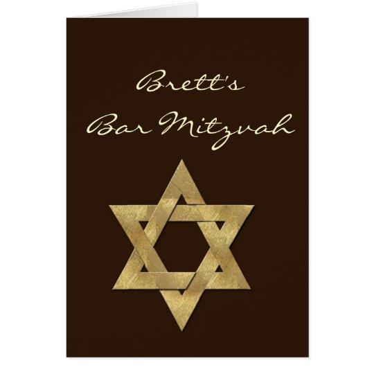 Dunkle Bar Browns kundenspezifische Mitzvah Karte