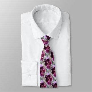Dunkle lila Motten-Orchideen Krawatte