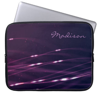 "Dunkle lila Name-Laptop-Hülse 15"" Laptopschutzhülle"